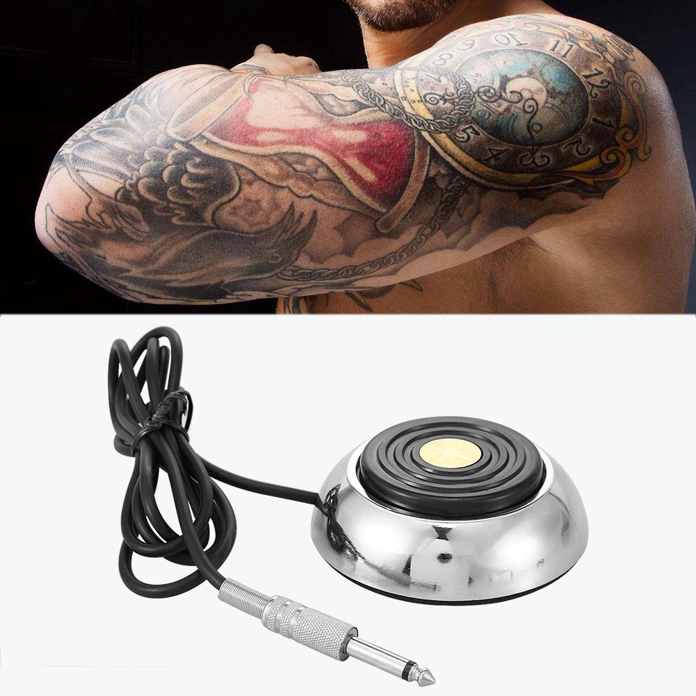Round Tattoo Foot Pedal Switch Tattoo Power Supply Parts