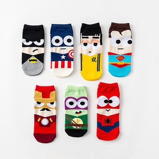 Cartoon Hero Printing Socks  Super Hero Cartoon Women Men Unisex Sock Ankle Cotton Socks