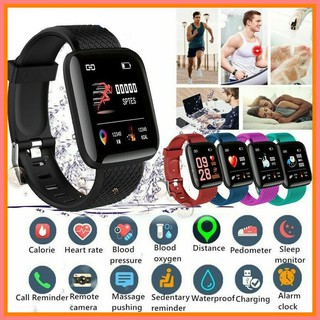 FeaturedBluetooth Smart Watch(116plus) Heart Rate Monitor Blood Pressure Tracker ForOutdoor Sports Fitness