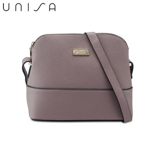[2019 New Colour Added] UNISA Saffiano Texture Shell Shape Mini Sling Bag