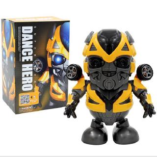 New Vibrating Dance Bumblebee Iron Man Robot Light Music Electric Toy