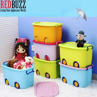 REDBUZZ Toy Storage Box with Wheel L & XL Multipurpose Toy wheel Storage box Containers