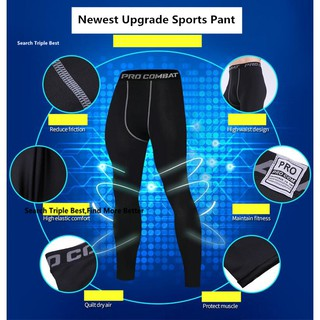 PRO COMBAT TIGHT TRAINING Pants Clothes Zumba Outdoor MTB Running Sports Pants