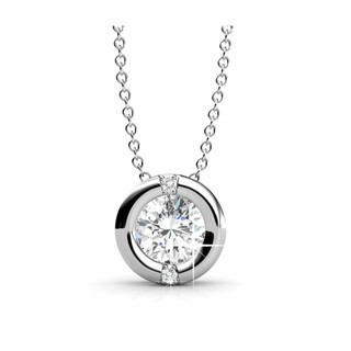 Selina jewellery  Classic Pendant (WG) embellished with Crystals from Swarovski