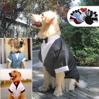 Pet Dog Costume Suit Clothes Apparel Tuxedo Breathable Fashion for Wedding Party