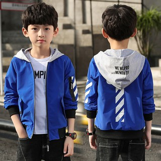 Boy's spring thin coat the new 2019 children children's wear and autumn period type of jacket cuhk brim boys baseball u