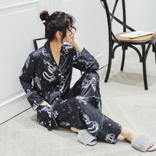 Sleepwear Piyama New Pajamas Daster And Loose Silk Women's Clothes House Dress