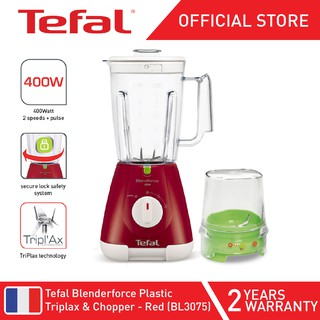 Tefal Blendforce Plastic Triplax & Chopper - Red BL3075
