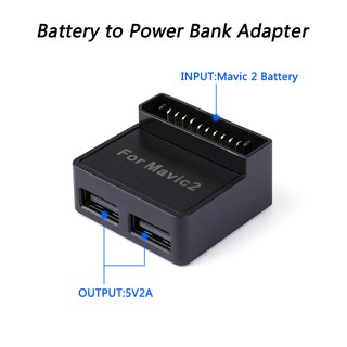 Battery to Power Bank Adapter Dual Output Port 5V/2A for DJI Mavic 2 Pro Mavic Zoom RC Quadcopter
