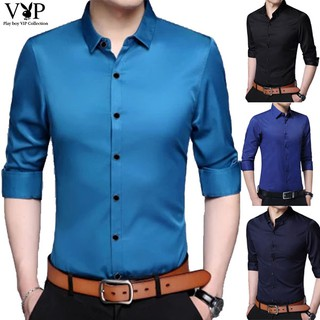 New men's clothing lapel Slim shirt men's high-end fashion business shirt