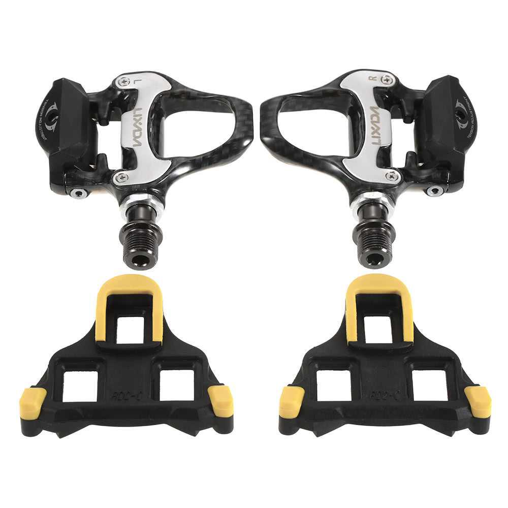 Lixada Road Bike Pedals SPD-SL Single-sided Clipless Bicycle 6 Degree Float Pedals Biking Cycling Pedal Clip-in Pedals