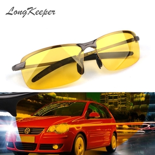LongKeeper Yellow Lenses Night Vision Driving Sun Glasses Men Polarized Goggles