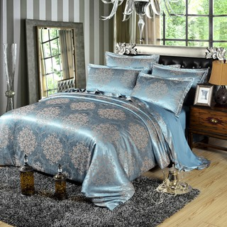 【WISJOY】4 Satin Bedding Sets Premium Cotton Queen King Size Luxury and Stylish