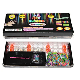 Clearance Black Box Rainbow Loom Set Kids Gift Box early Learning Toy Craft