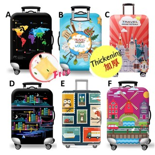 Local Ready Stock Thick Luggage Cover Travel Suitcase Protector Travelling Series