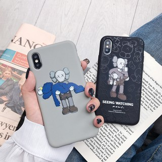 Casing oppo R9 R9S R11S R15 R17 pro Fashion XX KAWS Sesame Street soft phone case F1plus K1