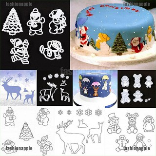 FAMY Christmas Snowflake Santa Claus Cookie Cutter Fondant Mold Cake Decorating Tool joie