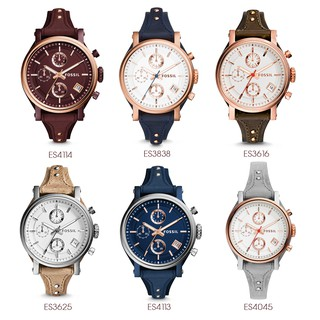 Fossil Watch Original  Chronograph  Women Leather Watch Boyfriend Series