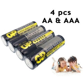 GP Supercell Super Heavy Duty AA/AAA Battery (4 pcs)