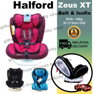 Halford Zeus XT Car Seat Red