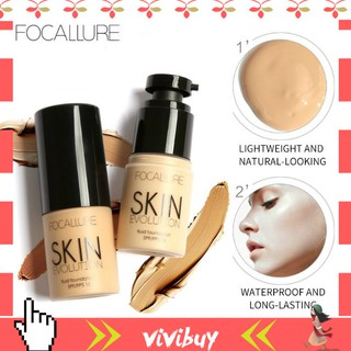 FOCALLURE SPF/FPS 15 Liquid Foundation BB Cream 8 Colors Face Base Concealer