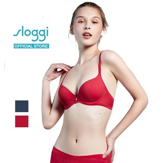 Sloggi Luxe Allure Wired Padded Bra - Red-Dark Combo/Blue-Dark Combo