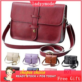 [Ready Stock] Women Vintage Leather Crossbody Sling Bag