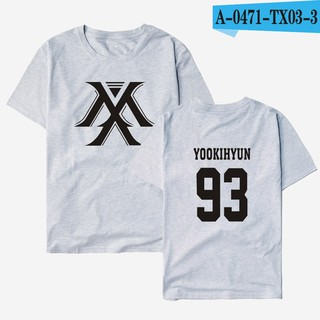 youpop kpop korean fashion monsta x t-shirt i.m jooheon minhyuk shownu cotton tshirt short-sleeve gray04