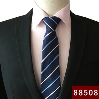 tie men skinny models 7cm blue pure black smooth