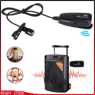 2.4G Wireless Lavalier Microphone with Voice Amplifier for Teachers Louder Speaker PA System Karaoke