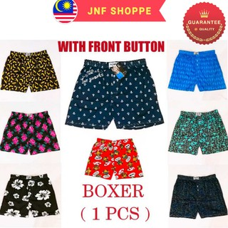 Boxer With Front Button/Men Briefs/Seluar Pendek ( 1 Pcs ) - READY STOCK