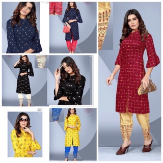 READYMADE NEW CATALOGUE FOR KURTI WITH PANTS L XL XXL