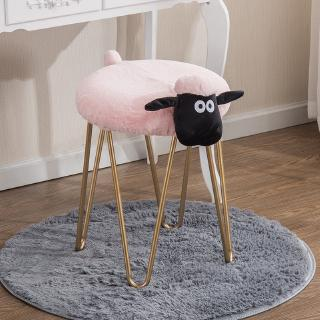 Creative iron art make-up stool lamb remove and wash stool Nordic designer furniture dressing stool manicure shop low s