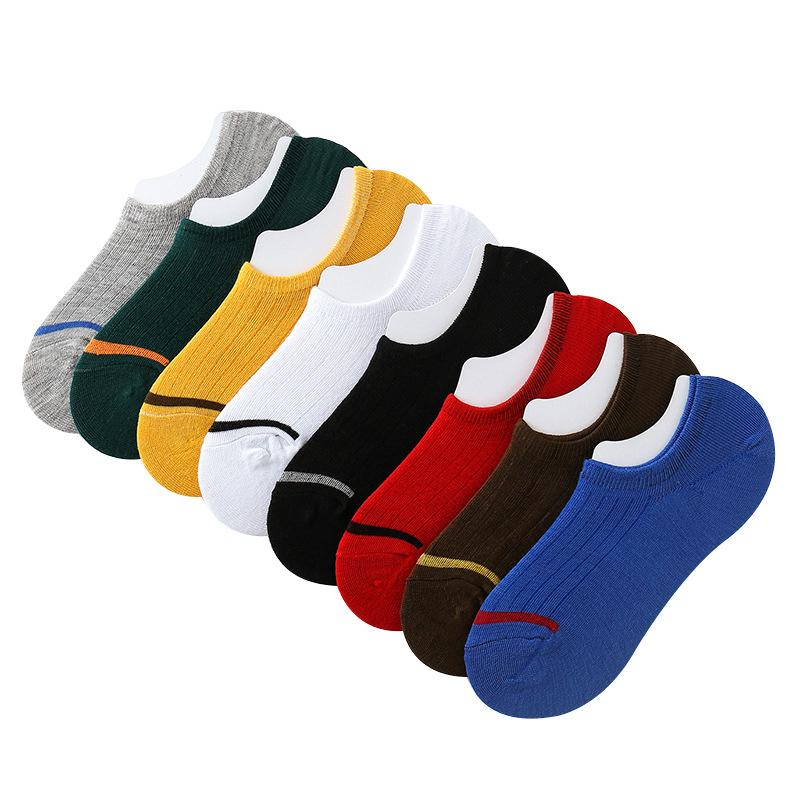 Men and Women's Cotton Socks Non-slip Silicone Popular Invisible Casual Stokin