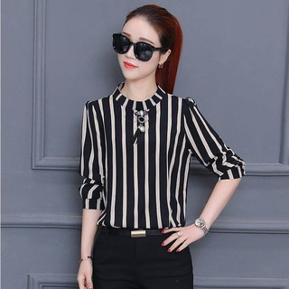 Buy one to send a-Single/two-piece seven-sleeve T-shirt striped loose summer dress shows thin size bodytop top