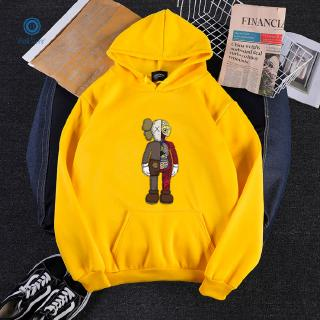 [Ready Stock]One piece KAWS Sesame Street Autumn Winter Sweeper Anatomy Pattern Hoodie Round Collar Sweaters【1016121】