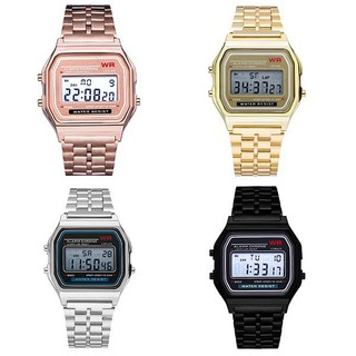 【Wholesale】 LED Digital Waterproof Quartz Wrist Watch Women Men Steel Jam tangan kuarza digital kalis air kalis air