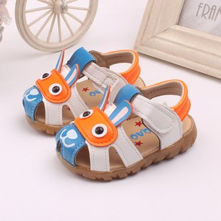 Toddler Kids Baby Boys Summer Shoes With Flashing Lights Sandals Cartoon Shoes