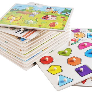 Baby Early Learning Wooden Cognitive Board Hand Grab Digital Alphabet