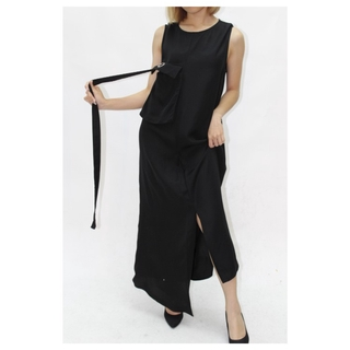 [STYLE LOFT] A020506 - JS LOOK A LINE DRESS BLACK (MADE IN KOREA)