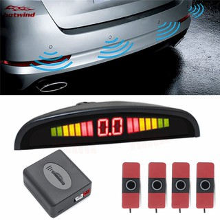 HW Car Parking Sensor Kit 4 Sensors LED Display Car Rear Reverse Backup Radar Monitor System 6 Color