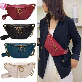 WB❥ Women PU Leather Fanny Chest Bag Fashion Waist Purse Shoulder Crossbody Bag