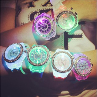 Watch Luminous LED Watches Women Men Quartz Watch Silicone Wristwatches Glowing