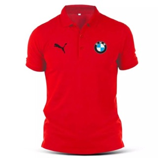BMW Racing Sport Car Turbo Puma Streetwear Polo T-Shirt