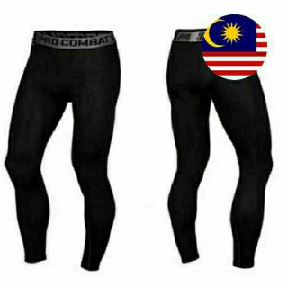 [ MALAYSIA STOCK ] S - 3XL PRO COMBAT TIGHT TRAINING ZUMBA OUTDOOR MTB RUNNING PANTS