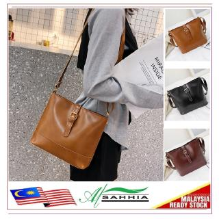 11R1 Al Sahhia Classic Leather Sling Shoulder Women Handbag Beg Tangan
