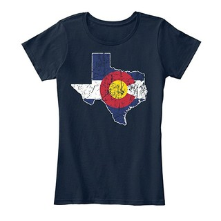 New Womens Tshirt Live In Texas But Made In Colorado Cotton Premium Tee