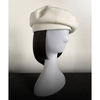 Fashion high-end white female painter hat autumn and winter wool blend beret capless hat hat navy hat net red vintage
