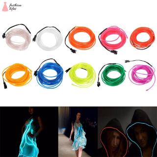 Natural home EL Wire Neon Glowing Light Battery Powered Waterproof LED Strips for Halloween Christmas