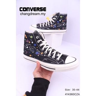 Converse 1970S women Personality hand drawing Dot doodle high sneakers Men shoes